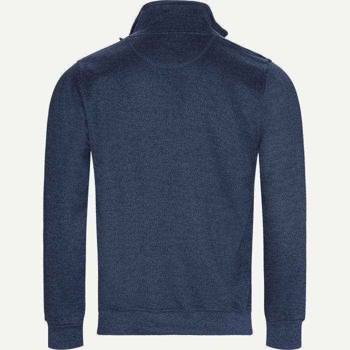 Half Zip Sweatshirt - Sweatshirts - Regular - Denim
